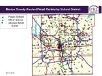 marion county schools alcohol retail outlets by school district1