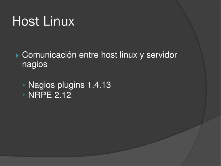 Host Linux