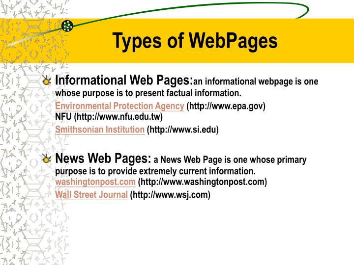 Types of webpages1