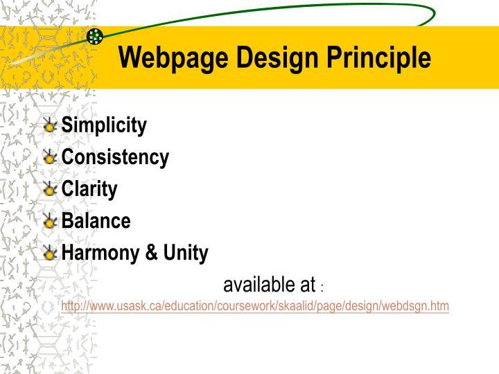 Webpage Design Principle