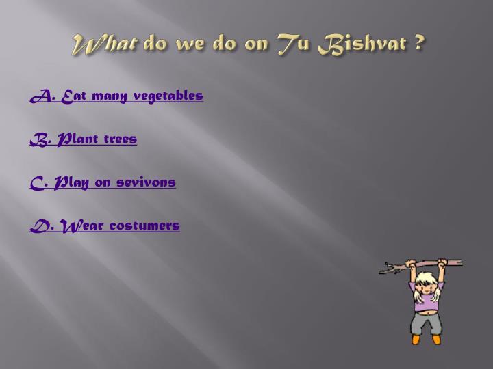 What do we do on tu bishvat