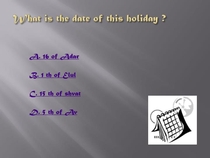 What is the date of this holiday ?