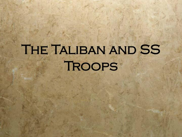 the taliban and ss troops n.