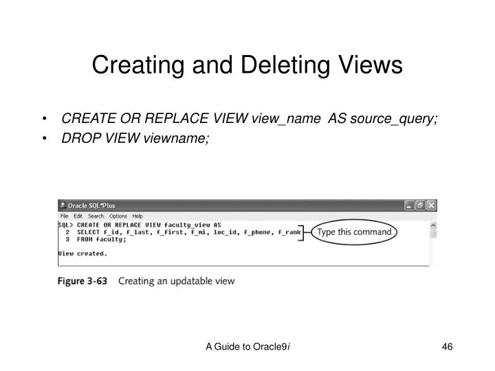 Creating and Deleting Views