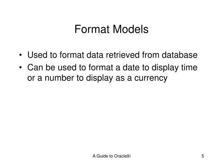Format Models