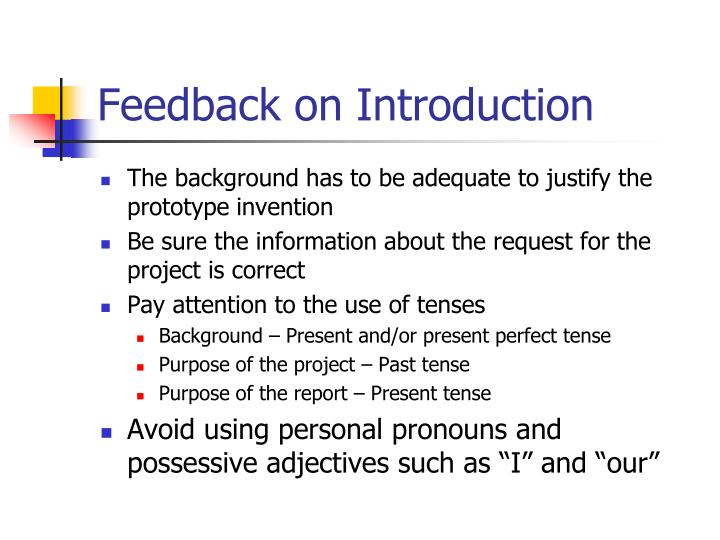 Feedback on introduction