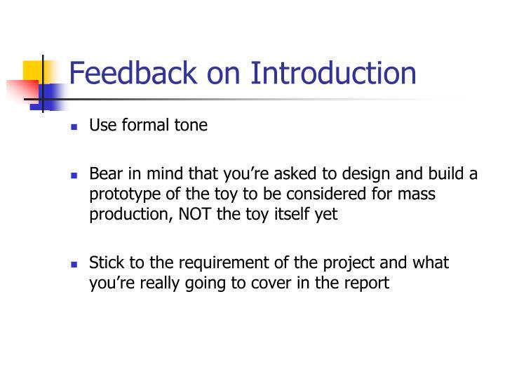 Feedback on introduction1