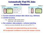 automatically find fk joins across databases