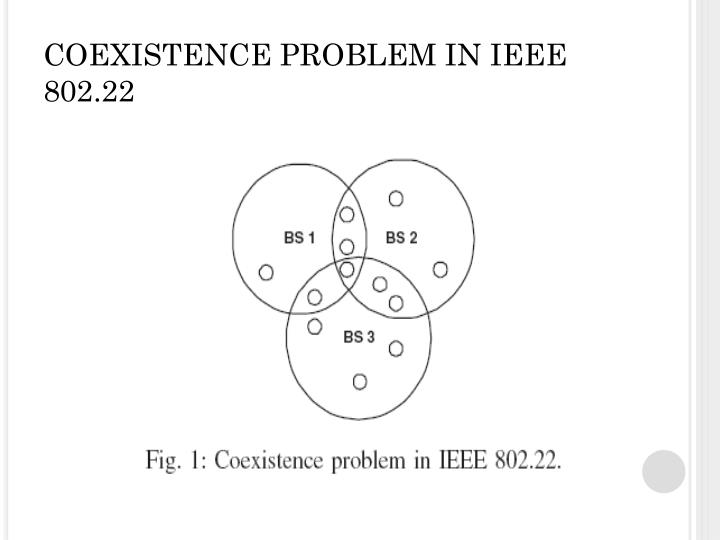 COEXISTENCE PROBLEM IN IEEE 802.22