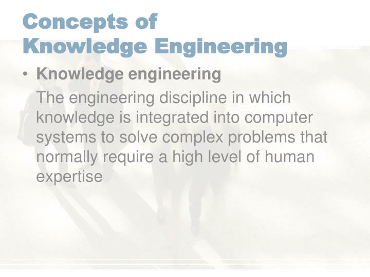Concepts of knowledge engineering