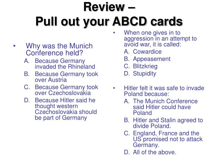 Why was the Munich Conference held?