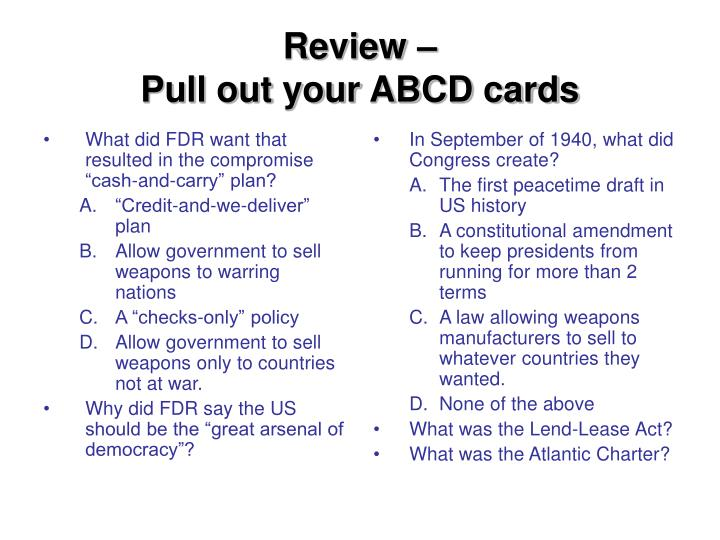 """What did FDR want that resulted in the compromise """"cash-and-carry"""" plan?"""