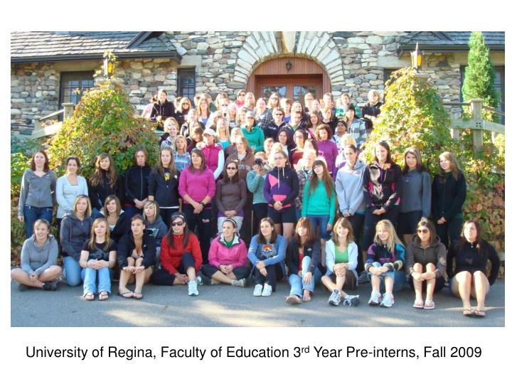University of Regina, Faculty of Education 3