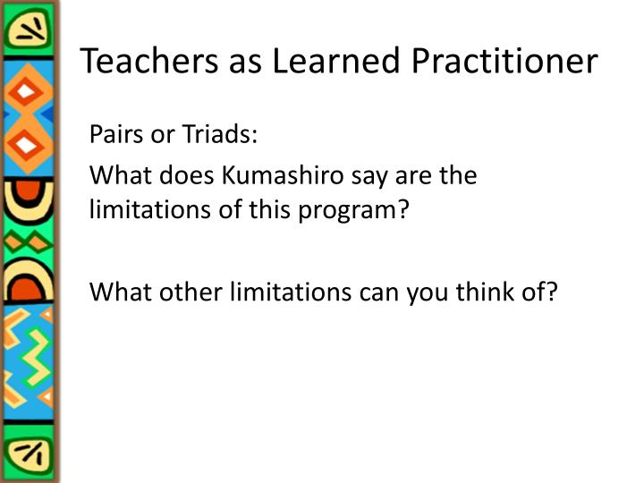 Teachers as Learned Practitioner