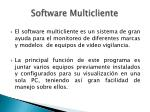 software multicliente
