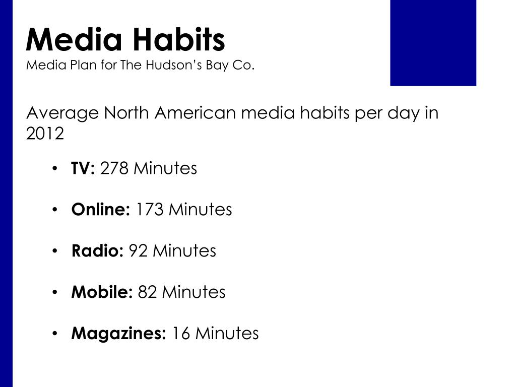 PPT - Media Plan for The Hudson's Bay Co  PowerPoint