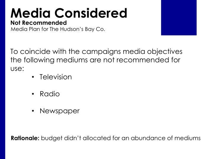Media Considered