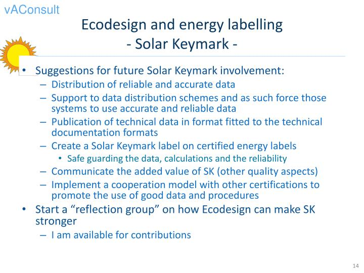 Ecodesign and energy labelling