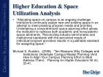 higher education space utilization analysis