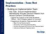 implementation some best practices1