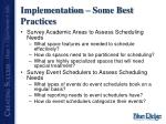 implementation some best practices4