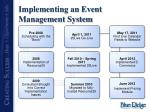 implementing an event management system