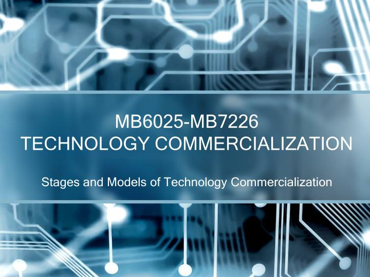 mb6025 mb7226 technology commercialization n.