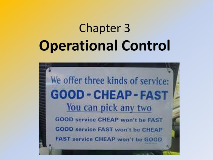 chapter 3 operational control n.