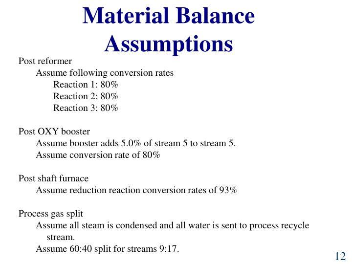 Material Balance