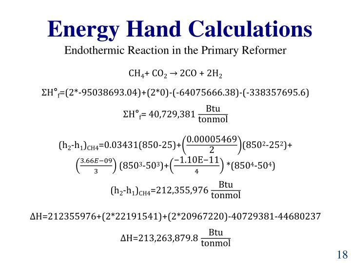 Energy Hand Calculations