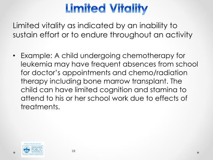 Limited Vitality