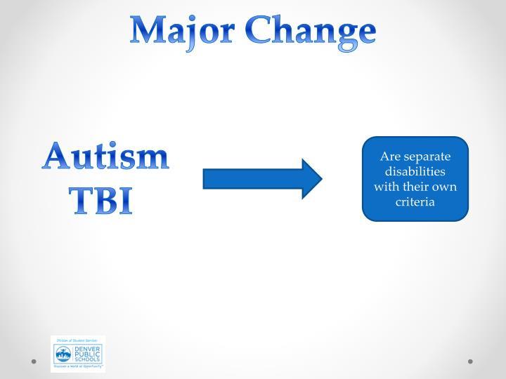Major Change