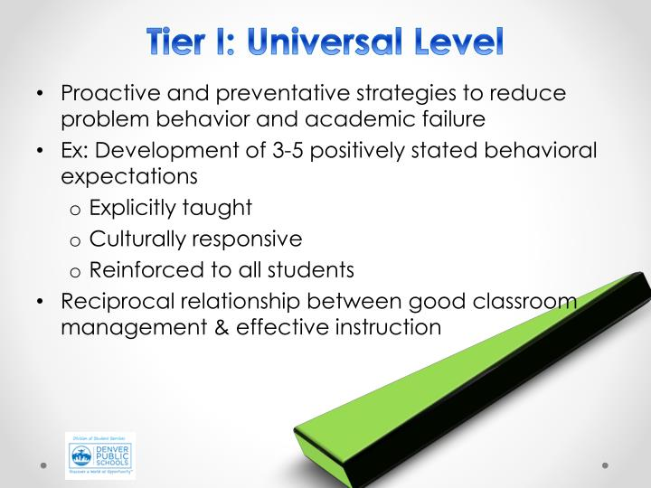 Tier I: Universal Level