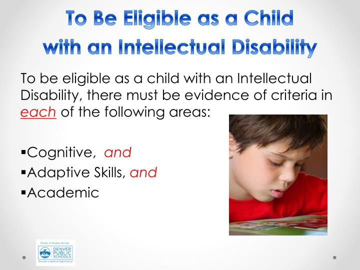 To Be Eligible as a Child
