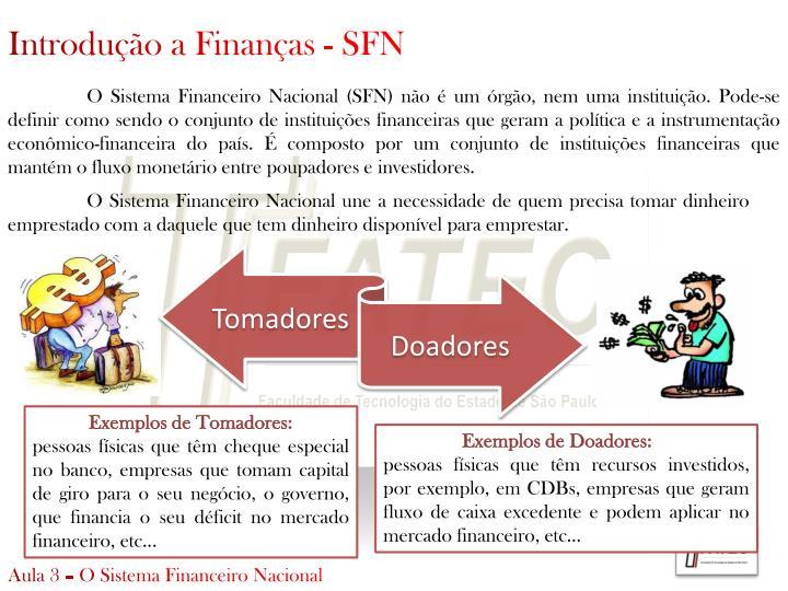 Introdução a Finanças - SFN