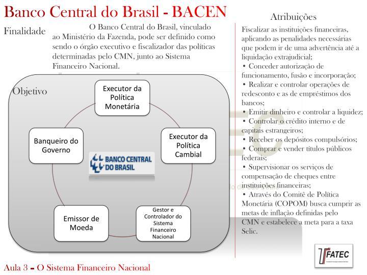 Banco Central do Brasil - BACEN