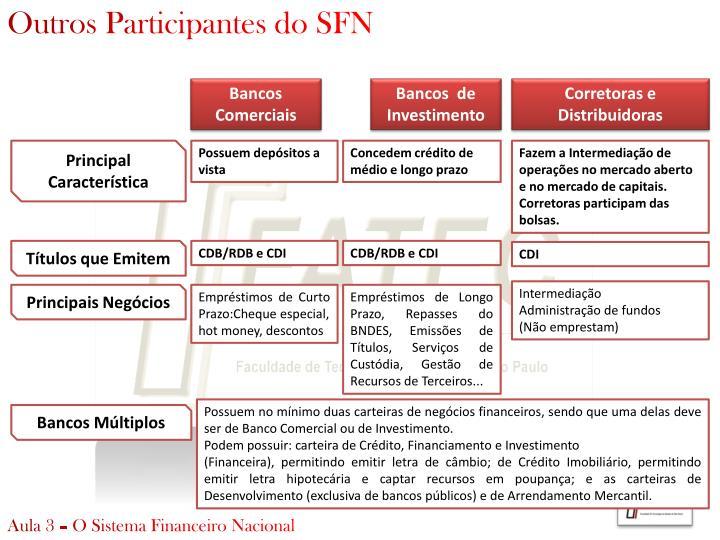 Outros Participantes do SFN