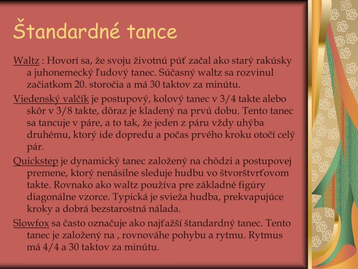 Štandardné tance