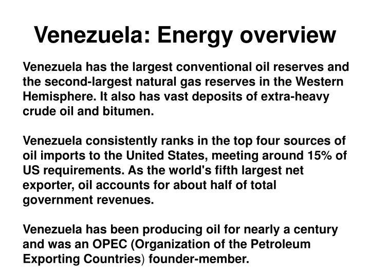 Venezuela energy overview