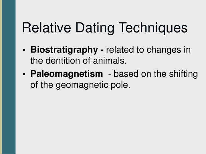 Biostratigraphy is a type of relative dating technique. true false