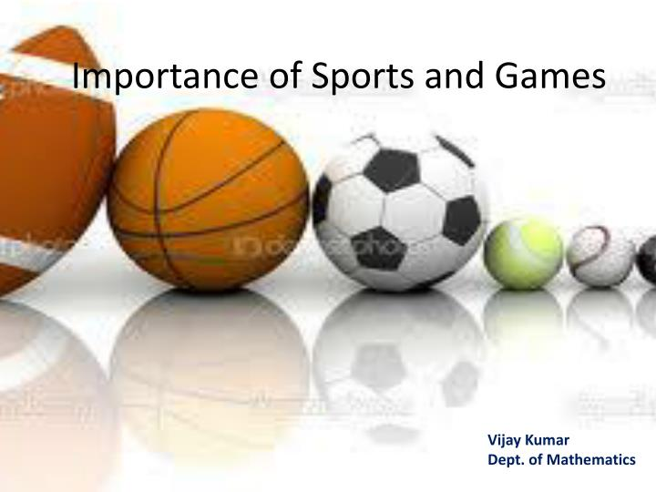essay for sports and games