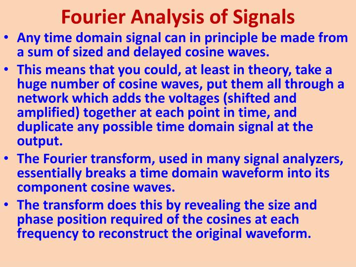 Fourier Analysis of Signals
