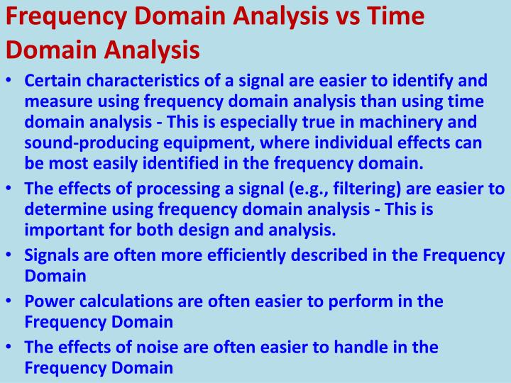 Frequency Domain Analysis vs