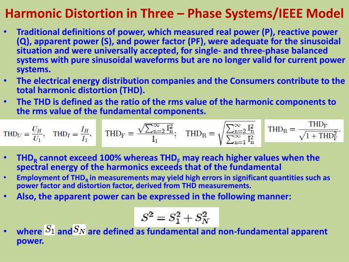 Harmonic Distortion in Three – Phase Systems/IEEE Model
