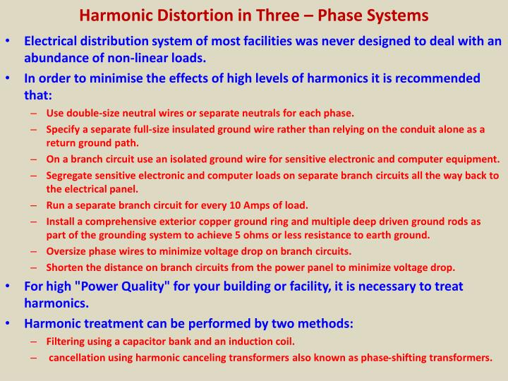 Harmonic Distortion in Three – Phase Systems
