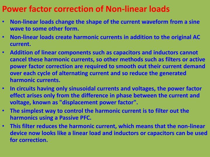 Power factor correction of Non-linear loads