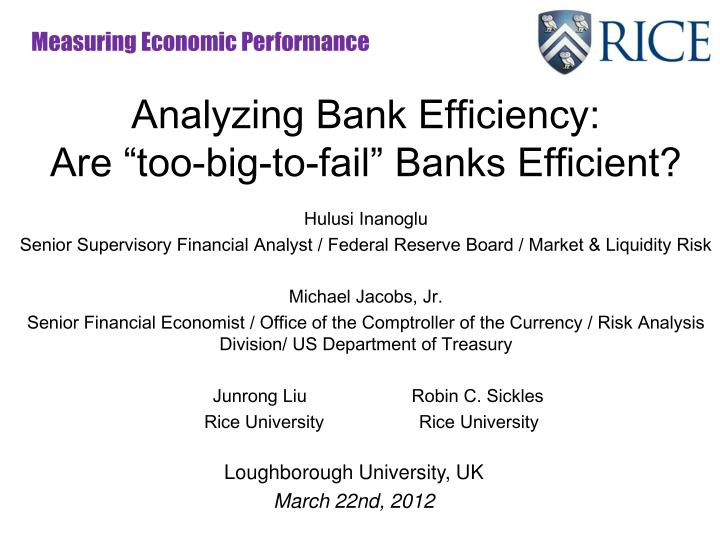 analyzing bank performance Analyzing bank performance: role of comprehensive income the need to increase investor attention on other comprehensive income statement items.
