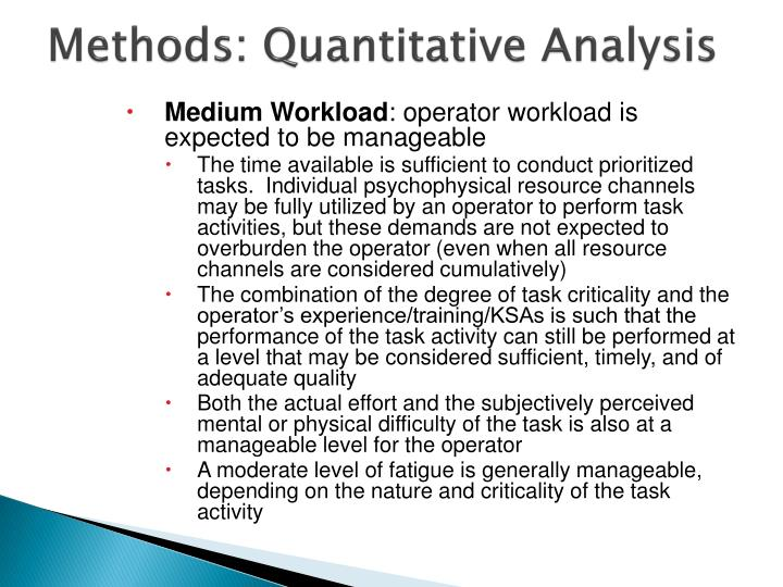 quantitative methods and analysis unit 1 Learn the knowledge and tools you need to dissect complicated business problems with quantitative methods quantitative analysis unit 7: decision analysis 1.