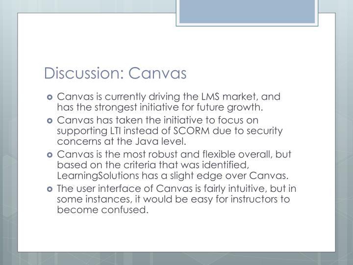 Discussion: Canvas