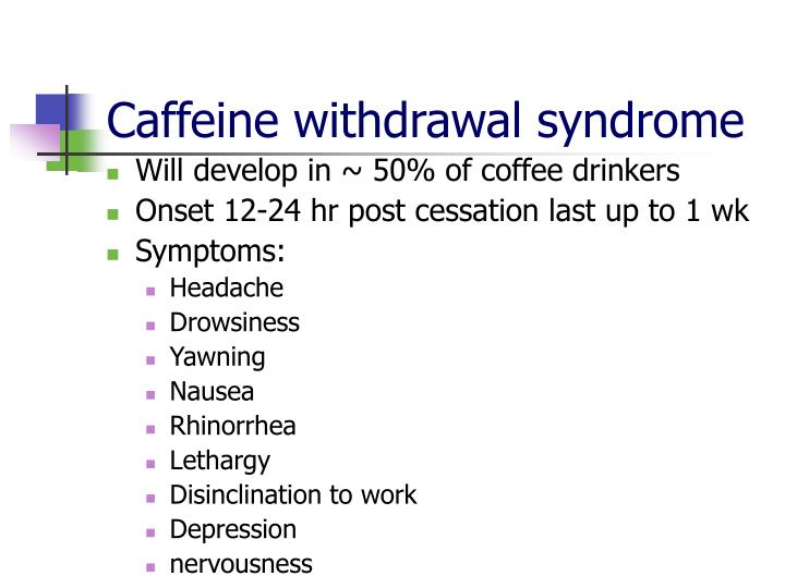 Caffeine withdrawal syndrome